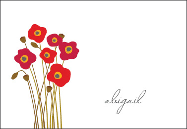 Poppies Petite Foldover Note Cards